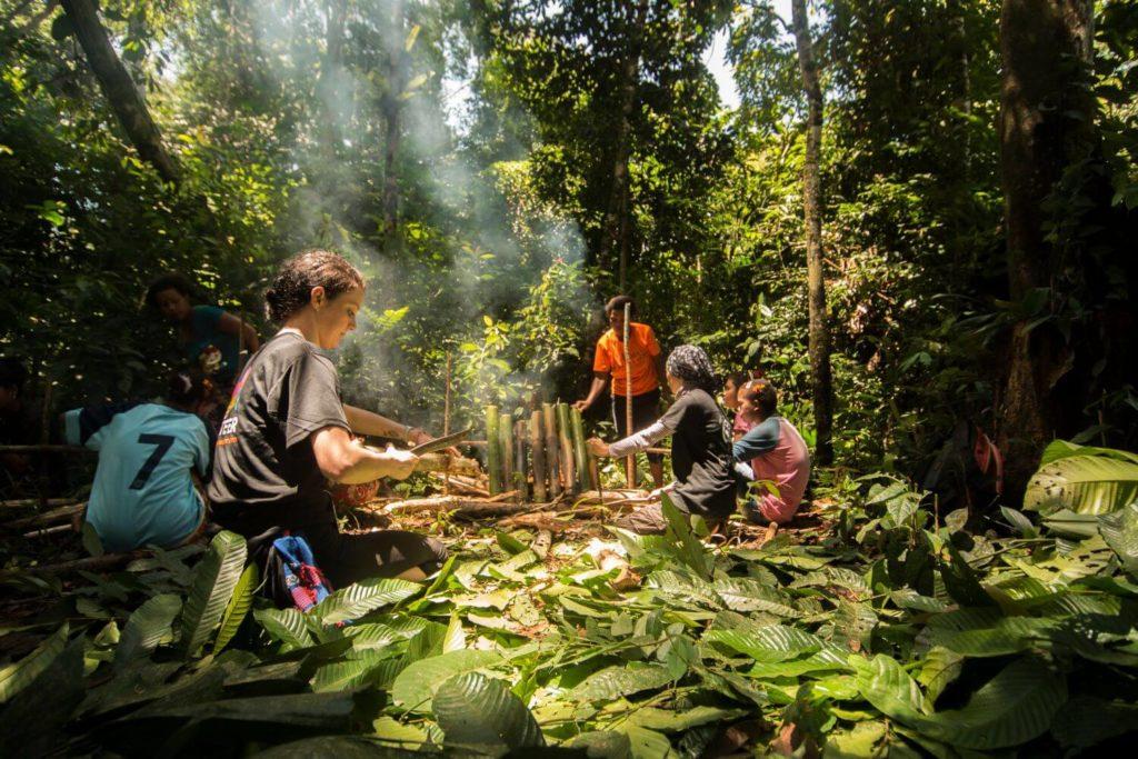 Rainforest school camp in Malaysia Bateq jungle survival skills