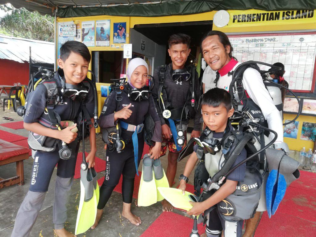 Junior diver programme Perhentian islands