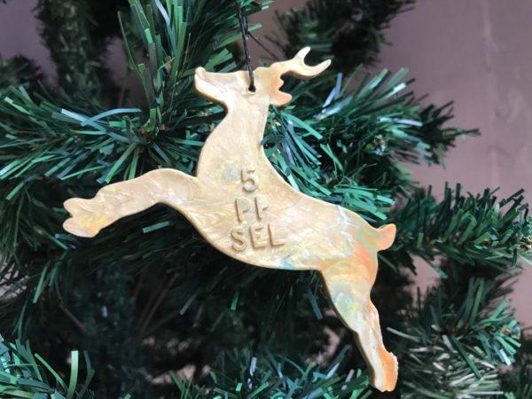 Ocean plastic christmas tree decoration reindeer