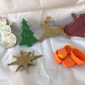 Ocean plastic christmas tree decorations