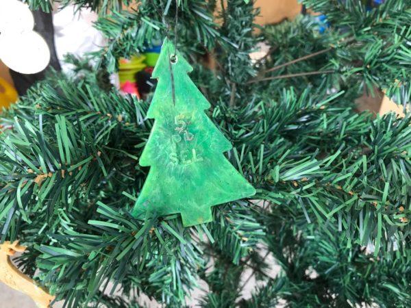 Ocean plastic christmas tree decoration tree