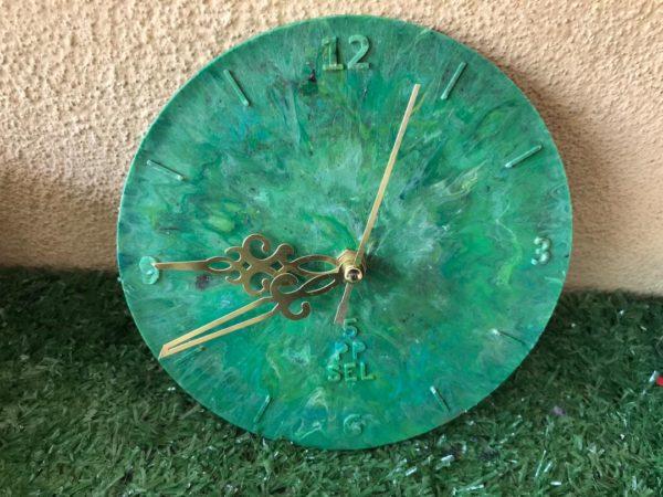 Precious Plastic Green Wall Clock