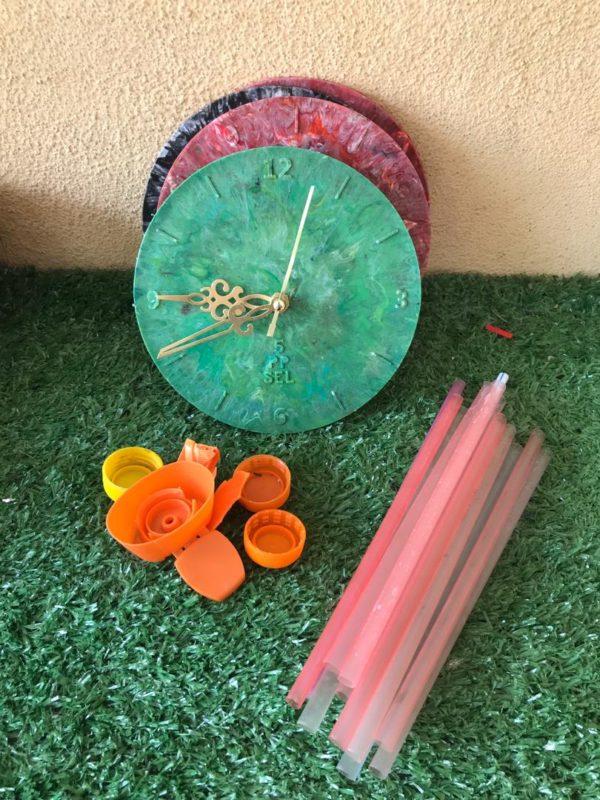 Precious Plastic wall clock