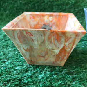 Upcycled Plant Pot - Orange